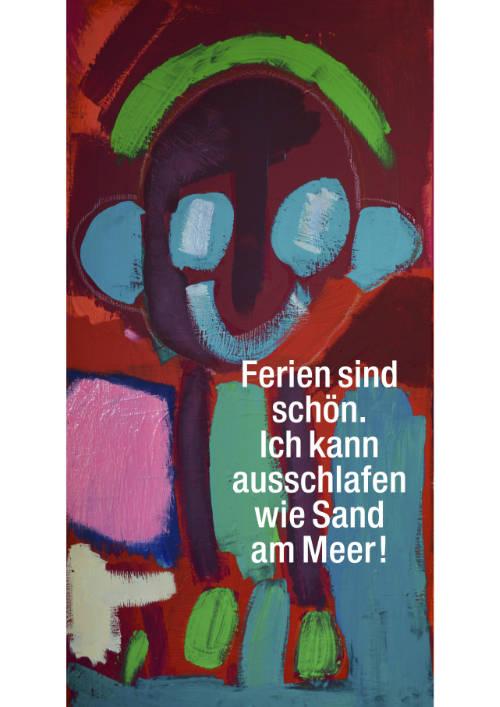 postkarten-plakate-kunst-menschen-behinderung-ferien-sand-meer